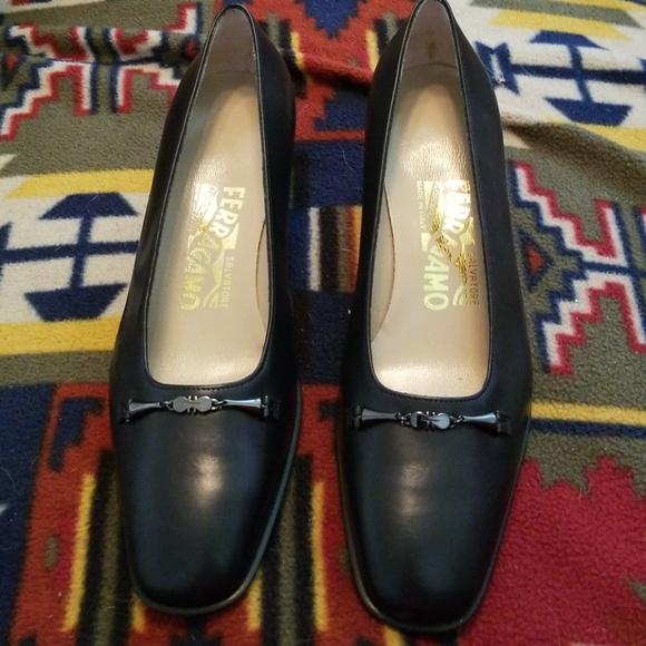 Salvatore Ferragamo Shoes - Black ferragamo  Made in Italy leather shoes